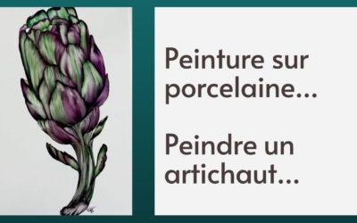 Peinture sur porcelaine… Peindre un artichaut (cours gratuit)